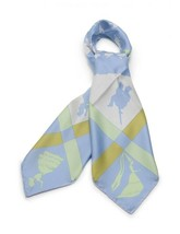 "Hermes Carre 90 scarf ""JEUX D'OMBRES"" silk water A Auth - $495.85"