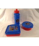 NEW Paw Patrol 3 pc set Snack with Lid Sandwich Water Bottle Lunch Set - $9.49