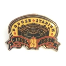 Vintage Collectible Pin - Dodger Stadium 1962-1987 25th Year Gold Tone E... - $9.75