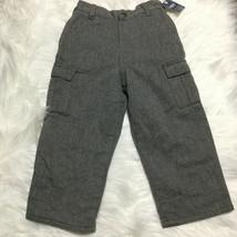 OshKosh Baby Boy's Lined Gray Cargo Pants, 24 Months, Cotton - NEW - $30 - $15.84