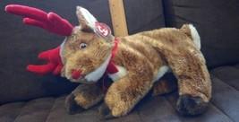 Ty Beanie Buddy Brown Reindeer ROXIE Stuffed Plush 2004 - $7.91