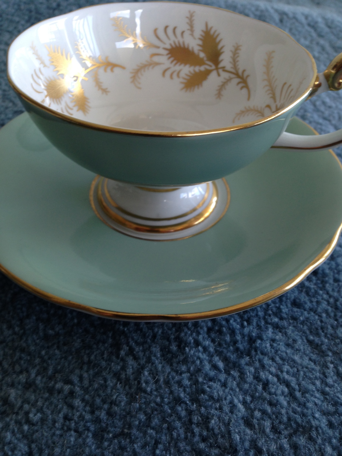Aynsley England Bone China Cup Saucer Mint And 45 Similar Items Image