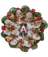 Rustic Birdhouse Winter Wreath With Cardinal Handmade Deco Mesh - $94.99