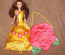Disney Beauty Beast Belle Doll Enchanted Rose Flower Dress Purse Princes... - $24.99