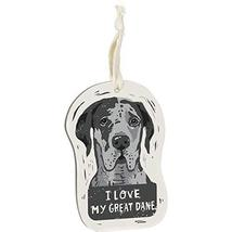Primitives by Kathy Wooden Hanging Ornament, 2-Sided - I Love My Great Dane - $12.02