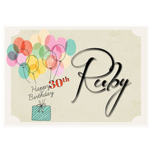 Balloons Gift Personalized Birthday Banner Party Decoration – Any Age - $42.08