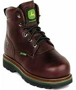 """JOHN DEERE 6"""" STEEL TOE METGUARD WORK BOOTS JD6373 Size 11.5M - $124.99"""