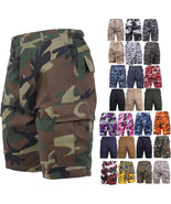 Tactical BDU Shorts Military Camo Cargo Shorts Army Fatigues Camouflage ... - $25.99+