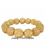 Anthony David Gold Metal Crystal Pave Bracelet with Swarovski Crystals - $39.99