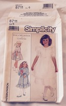 1988 Simplicity 8711 Sewing Pattern GirlSZ6 JessicaMcClintock Gunne Sax Dress FF - $5.45