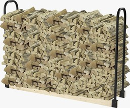 Firewood Outdoor Heavy Duty Storage Holder Log Rack Bracket Holders Adju... - $32.82