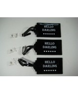 HELLO  DARLING Luggage Tags -Set Of 3 - $7.36