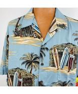 Kalaheo Aloha Hawaiian Shirt 2XL Tiki Hut Surf Board gray Waikiki Pacifi... - $59.39