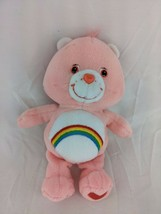 "Care Bears Cheer Bear Plush 8"" 2002 Play Along Stuffed Animal Toy - $7.95"