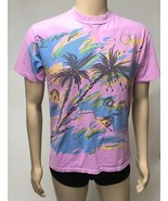 Ocean Pacific TShirt Pink Vaporwave Surfer Beach Skater Hipster Double S... - $92.57