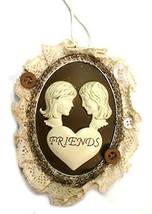 Kurt Adler Lace Plaque Ornament (Friends) - $14.85