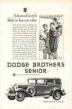 Flapper Shops Dodge Landua Sedan 1929 Gannam Art AD - $10.99