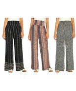 NWT!!! Three Dots Women's Printed Relaxed Fit Wide Leg Pull-On Pants, Va... - $18.99