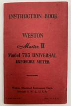 Weston Master II Model 735 Universal Exposure Meter Instruction Book 21-56 - $9.45