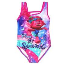 Trolls Princesa Amapola UPF-50 Baño Traje de Nuevo con Etiqueta Niña Tal... - $20.93