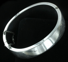 Vintage Mid Century Sterling Silver Hinged Bangle Bracelet - Binder Bros... - $58.04