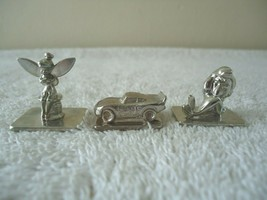 """Lot Of 3 Disney Board Game Pieces,Tinker Bell,Car,Little Mermaid """" GREAT ITEMS """" - $14.99"""
