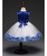 Lovely Royal Blue Wedding Flower Girl Dresses O-Neck Birthday Party Gown... - $28.33
