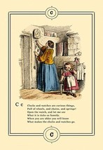 Little Lily's Alphabet: Clocks and Watches by Oscar Pletsch - Art Print - $19.99+