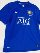 Nike Dri-fit Manchester United 1968-2008 40th Anniversary Blue Jersey Ki... - $43.88