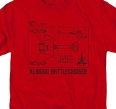 Star Trek Retro 60s Sci-Fi series Klingon Battlecruiser graphic t-shirt CBS1383 image 2