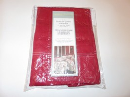 Croscill Chesapeake Solid Red Button Down Valance New - $30.35
