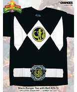 Mighty Morphin Power Rangers Black Ranger Superhero Halloween Costume T ... - $19.99+