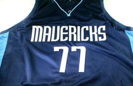 LUKA DONCIC / AUTHOGRAPHED DALLAS MAVERICKS BLUE CUSTOM BASKETBALL JERSEY / COA image 2