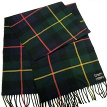 Christian Dior Monsieur Scarf Green Plaid Cashmaire 100% Acrylic Made En... - $12.58