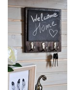 Decor for Kitchen Wall, Wooden Message Board, Dog Leash & Coat Holder, M... - $25.49