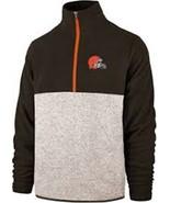 NFL Cleveland Browns 3XL Pullover Fleece 1/4 Zip Embroidered Men's Logo... - $84.15