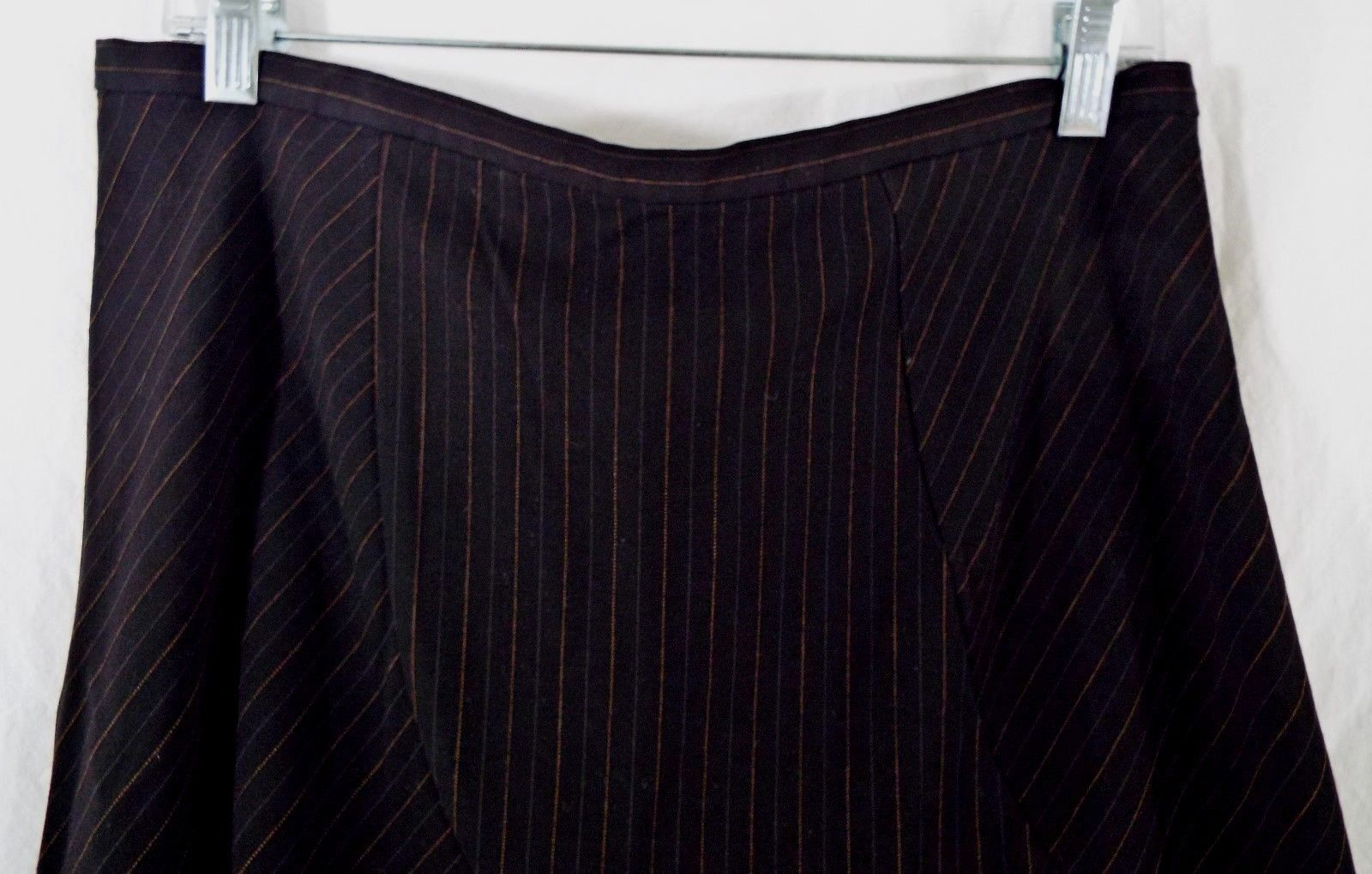 Old Navy Low Waist Essential Stretch Trumpet Black Pinstripe Skirt Size 10 Used