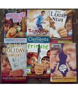 6 Andrew Clements books Frindle, The Map Trap, No Talking, The Landry News - $8.99
