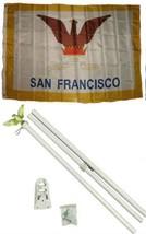 ALBATROS 3 ft x 5 ft City of San Francisco California Flag White with Po... - $47.98
