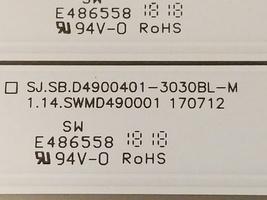 * TCL 49S405 Backlights  (4) SJ.SB.D4900401-3030BL-M , (4) SJ.SB.D49005... - $28.50