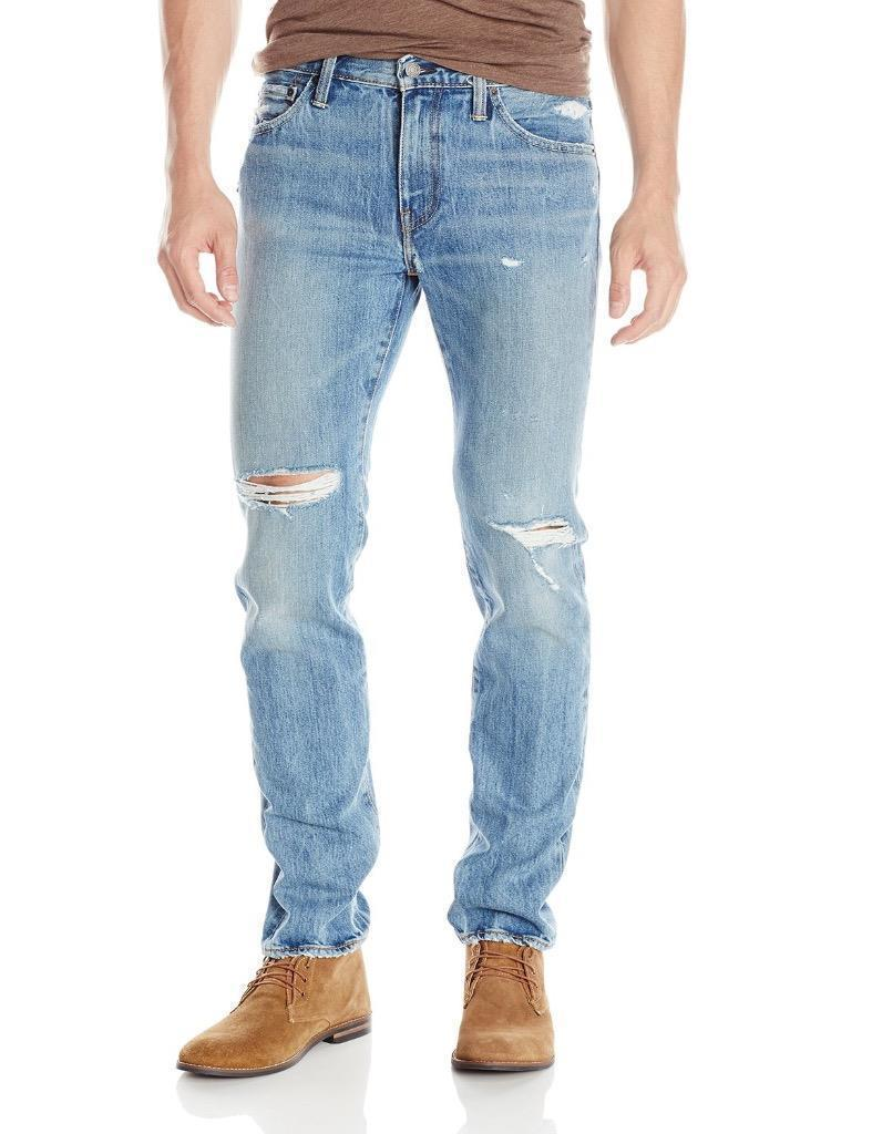 Levi's Strauss 511 Men's Slim Fit Premium Distressed Denim Jeans 511-1853