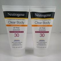 2 X Neutrogena Clear Body Oil Free Sunscreen, SPF 30 - 5 fl oz Exp 5/2021 - $16.82