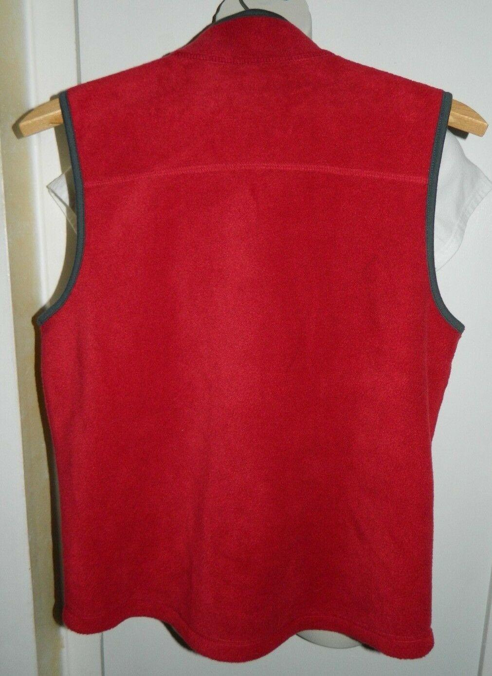 GAP KIDS XXL Red  with Gray Trim Fleece Vest