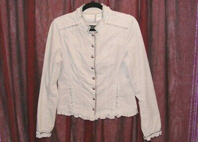 Primary image for WHITE HOUSE BLACK MARKET GRAY MILITARY CADET STYLE CORDUROY JACKET SIZE 6 GUC