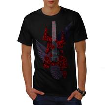 Bass Guitar Roses Music Shirt Music Style Men T-shirt - $12.99+