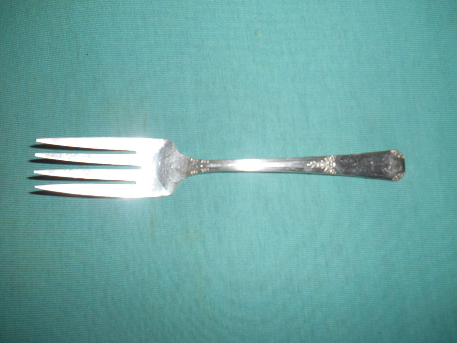 "Primary image for 6 1/8"", S. P., Salad Fork, Wm. A. Rogers/Oneida, 1939 Rio Pattern."