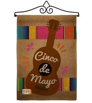 Celebrate Guitarron Cinco De Mayo Burlap - Impressions Decorative Metal Wall Han - $33.97