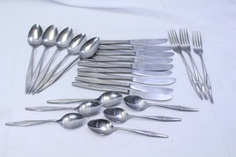 Spritely Rose Stainless Steel Japan Flatware Lot of 22 - $29.39