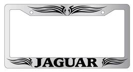 Chrome License Plate Frame Jaguar Tribal Design 1 Auto Accessory - $9.49