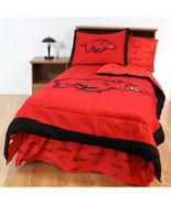 Arkansas Razorbacks Comforter Sham Bedskirt Pillowcase Valance Twin to K... - $146.90+
